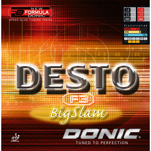 Donic Desto F3 Big Slam Table Tennis & Ping Pong Rubber, Pick Color & Thickness