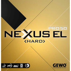 Gewo Nexxus EL Pro 50 Hard Table Tennis & Ping Pong Rubber, Choose Your Variation