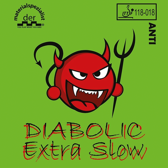 Der Materialspezialist Diabolic Extra Slow Table Tennis Rubber, Pick Variation