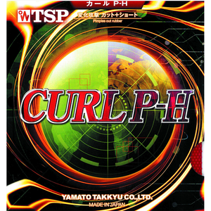 TSP Curl P-H Table Tennis and Ping Pong Rubber, Choose Your Color and Thickness
