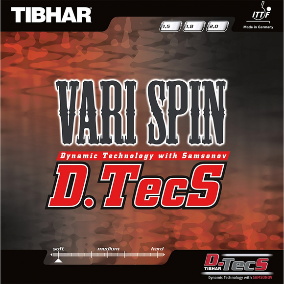 Tibhar Vari Spin D.TecS Table Tennis & Ping Pong Rubber, Pick Color & Thickness