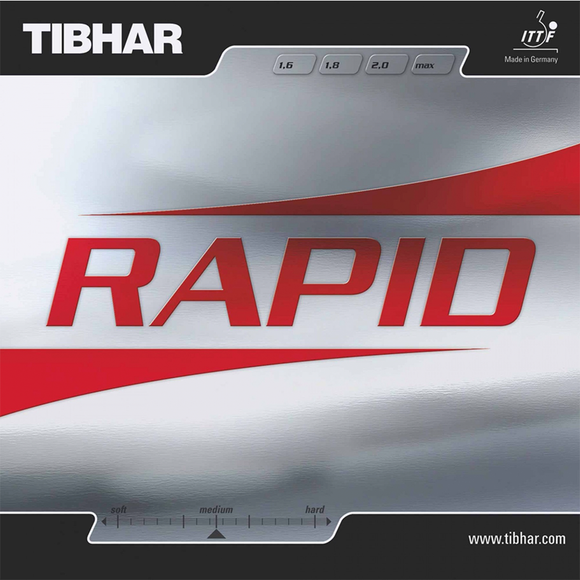 Tibhar Rapid Table Tennis and Ping Pong Rubber, Choose Your Color and Thickness