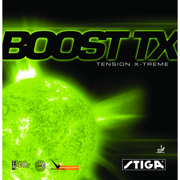 Stiga Boost TX Table Tennis & Ping Pong Rubber, Choose Your Color and Thickness