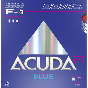 Donic Acuda Blue P1 Table Tennis & Ping Pong Rubber, Choose Color and Thickness