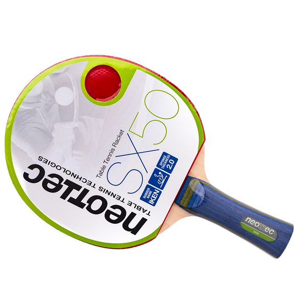 Neottec SX50 Table Tennis and Ping Pong Racket, Choose Handle Type, Authentic!