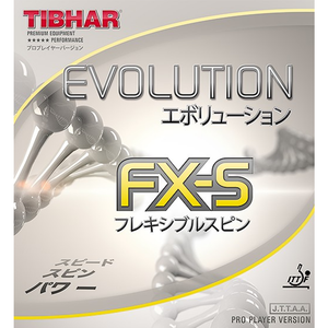 Tibhar Evolution FX-S Table Tennis & Ping Pong Rubber, Choose Color & Thickness