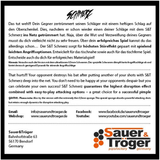 Sauer Tröger Schmerz Table Tennis & Ping Pong Rubber, Choose Color and Thickness
