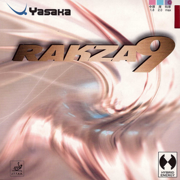 Yasaka Rakza 9 Table Tennis and Ping Pong Rubber, Choose Color and Thickness