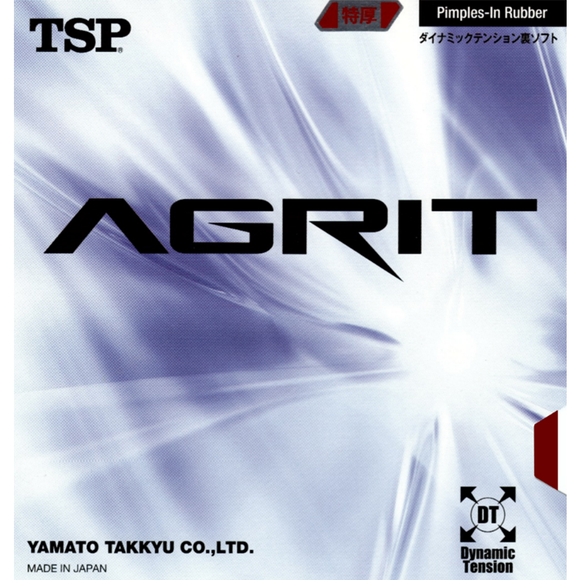 TSP Agrit Table Tennis and Ping Pong Rubber, Choose Color & Thickness, Authentic