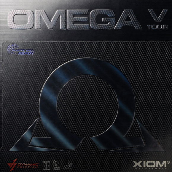 Xiom Omega V Tour Table Tennis and Ping Pong Rubber, Choose Color and Thickness