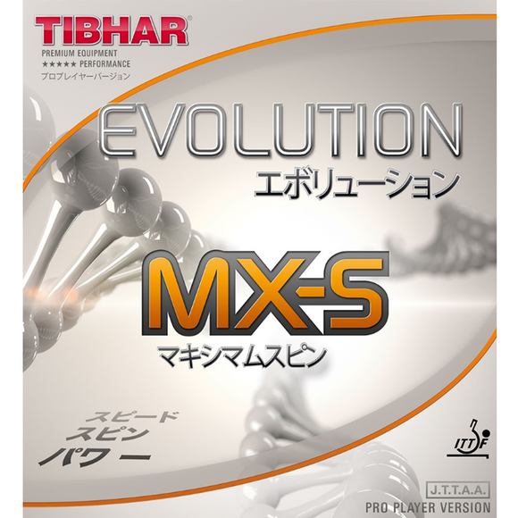 Tibhar Evolution MX-S Table Tennis & Ping Pong Rubber, Choose Color & Thickness