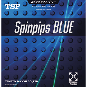 TSP Spinpips Blue Table Tennis & Ping Pong Rubber, Choose Your Color and Thickness
