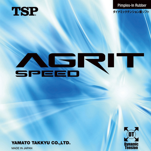 TSP Agrit Speed Table Tennis & Ping Pong Rubber, Choose Your Color and Thickness