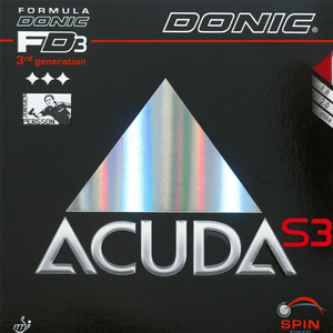 Donic Acuda S3 Table Tennis and Ping Pong Rubber, Choose Your Color and Thickness