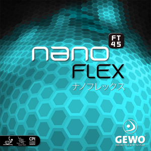 Gewo Nanoflex FT45 Table Tennis and Ping Pong Rubber, Choose Color and Thickness