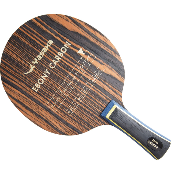 Yasaka Ebony Carbon - Table Tennis and Ping Pong Blade, Choose Your Handle Type