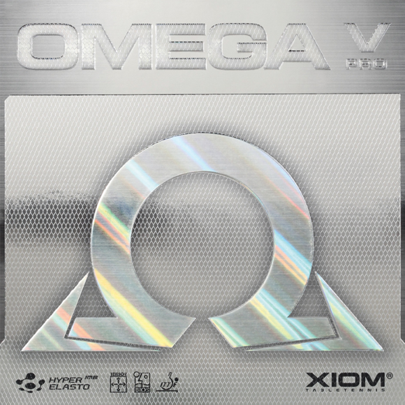 Xiom Omega V Pro Table Tennis & Ping Pong Rubber, Choose Your Color & Thickness