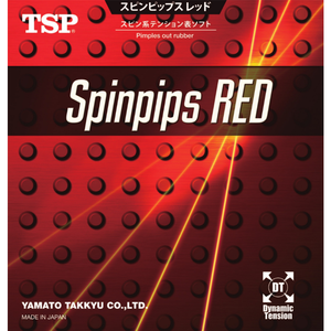 TSP Spinpips Red Table Tennis & Ping Pong Rubber, Choose Your Color & Thickness