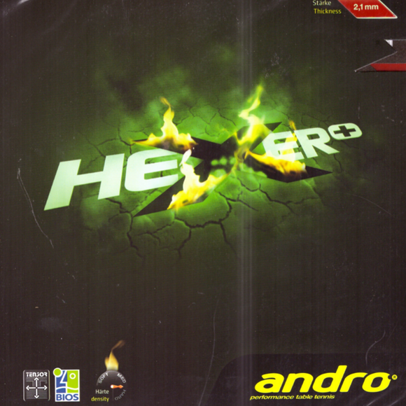 Andro Hexer Plus Table Tennis & Ping Pong Rubber, Choose Ur Color and Thickness