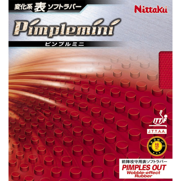 Nittaku Pimplemini Table Tennis and Ping Pong Rubber, Choose Color and Thickness