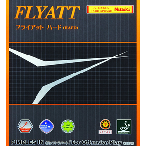 NITTAKU Flyatt Hard Table Tennis & Ping Pong Rubber, Choose Color and Thickness