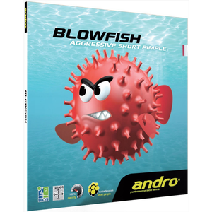 Andro Blowfish Table Tennis & Ping Pong Rubber, Choose Your Color and Thickness