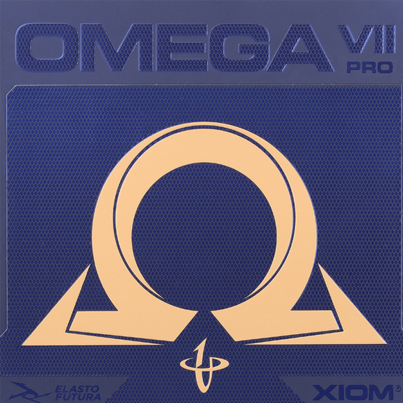 Xiom Omega VII Pro Table Tennis and Ping Pong Rubber, Choose Color and Thickness