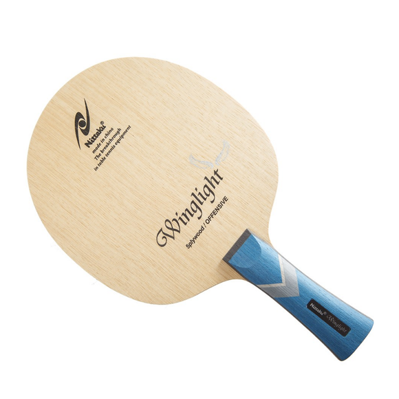 Nittaku Winglight Table Tennis Paddle with CONC (FL) Handle Type, 100% Authentic