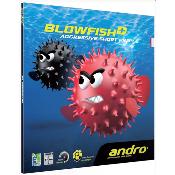 Andro Blowfish+ Table Tennis & Ping Pong Rubber, Choose Ur Color and Thickness