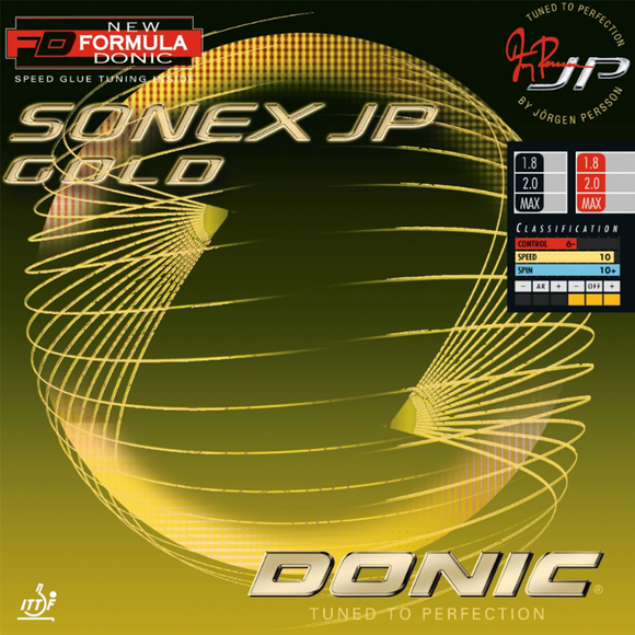 Donic Sonex JP Gold Table Tennis & Ping Pong Rubber, Choose Color and Thickness