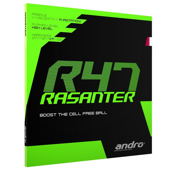 Andro Rasanter R47 Table Tennis and Ping Pong Rubber Choose Color and Thickness