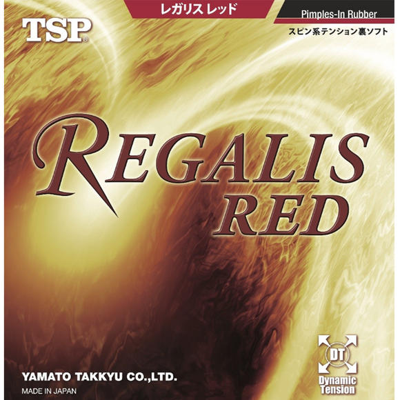 TSP Regalis Red Table Tennis & Ping Pong Rubber, Choose Your Color and Thickness