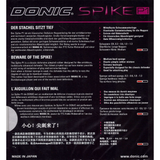 Donic Spike P1 Table Tennis and Ping Pong Rubber, Choose Your Color and Thickness