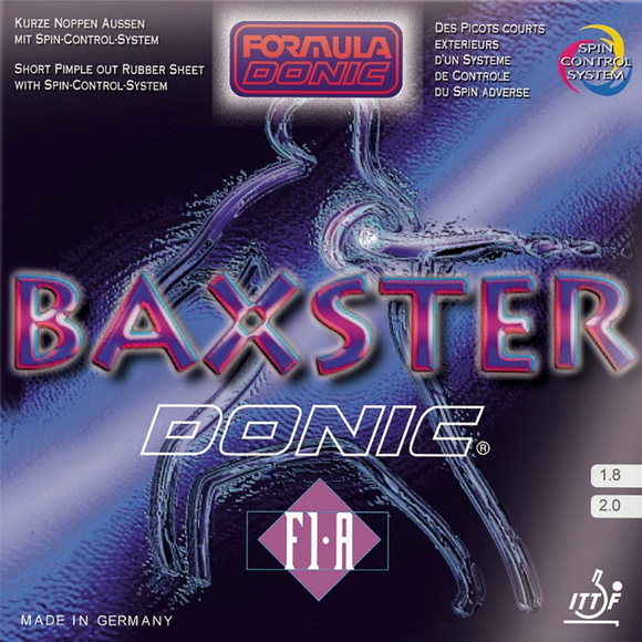 Donic Baxster F1-A Table Tennis and Ping Pong Rubber, Choose Color and Thickness