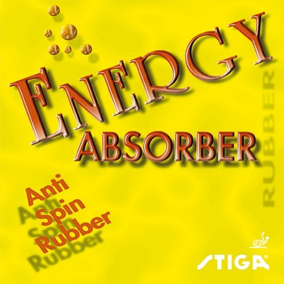 Stiga Energy Absorber Table Tennis & Ping Pong Rubber, Choose Color & Thickness