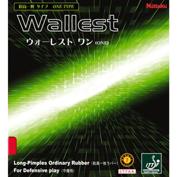 Nittaku Wallest One (OX) Table Tennis & Ping Pong Rubber, Pick Color, Authentic