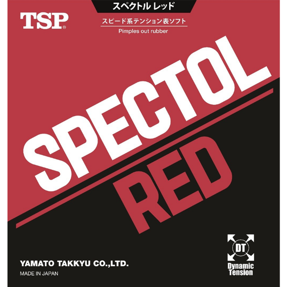 TSP Spectol Red Table Tennis & Ping Pong Rubber, Choose Your Color and Thickness