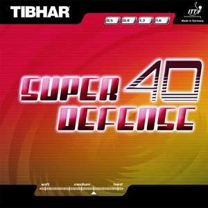 Tibhar Super Defense 40 Table Tennis & Ping Pong Rubber, Pick Color & Thickness