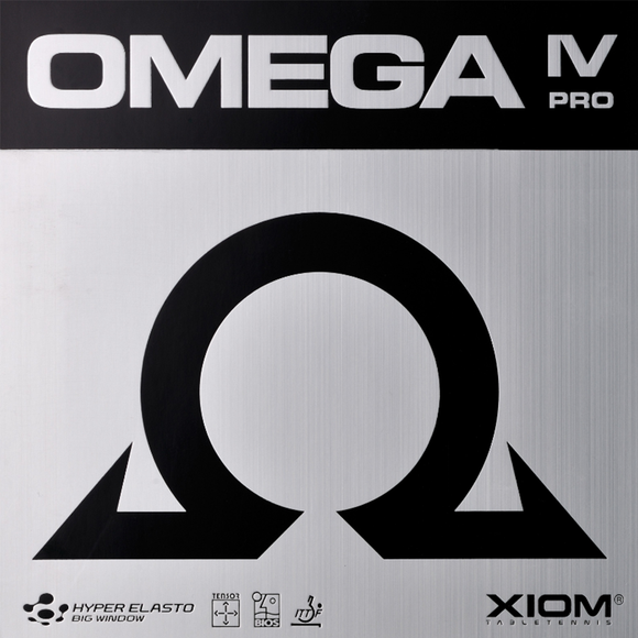 Xiom Omega IV Pro Table Tennis and Ping Pong Rubber, Choose Color and Thickness