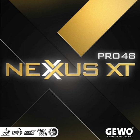 Gewo Nexxus XT Pro 48 Table Tennis & Ping Pong Rubber, Choose Color & Thickness
