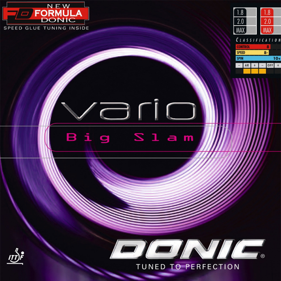 Donic Vario Big Slam Table Tennis and Ping Pong Rubber, Choose Color & Thickness