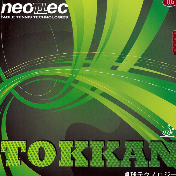 Neottec Tokkan OX Table Tennis and Ping Pong Rubber, Choose Color and Thickness