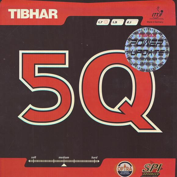 Tibhar 5Q Table Tennis & Ping Pong Rubber, Authentic, Choose Color & Thickness