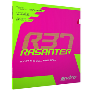 Andro Rasanter R37 Table Tennis and Ping Pong Rubber, Choose Color and Thickness