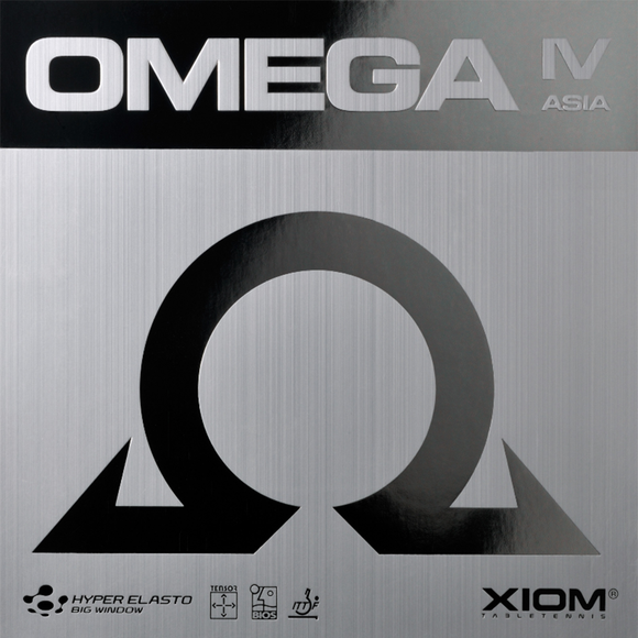 Xiom Omega IV Asia Table Tennis & Ping Pong Rubber, Choose Your Color & Thickness