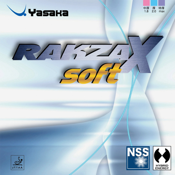 Yasaka Rakza X Soft Table Tennis & Ping Pong Rubber, Choose Color and Thickness