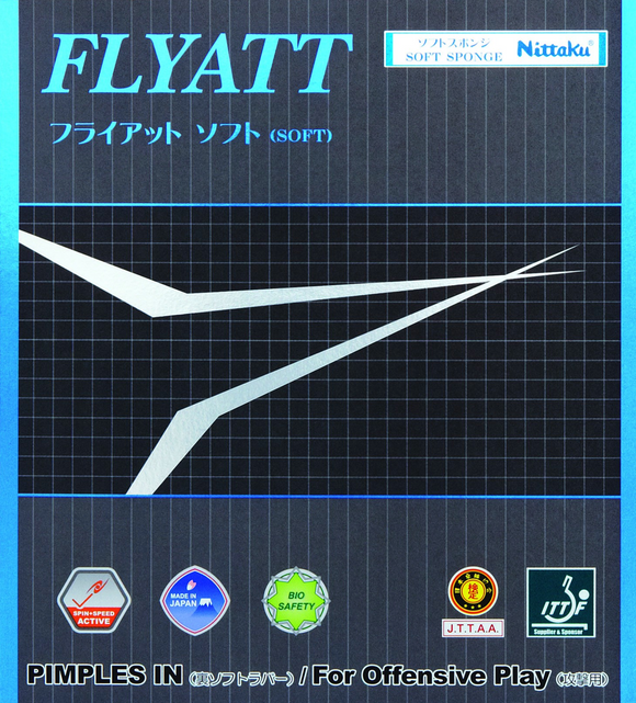 Nittaku Flyatt Soft Table Tennis & Ping Pong Rubber, Choose Color and Thickness
