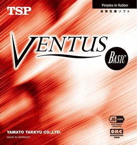 TSP Ventus Basic Table Tennis and Ping Pong Rubber, Choose Color and Thickness