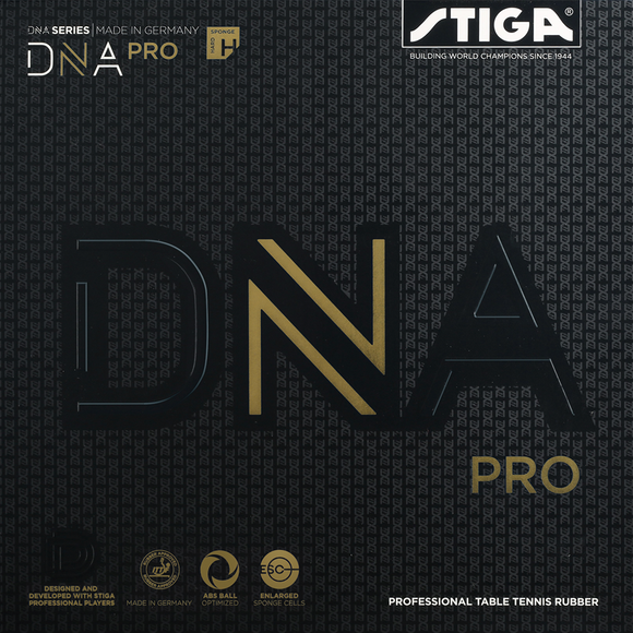 Stiga DNA PRO H Table Tennis and Ping Pong Rubber - Black 2.1