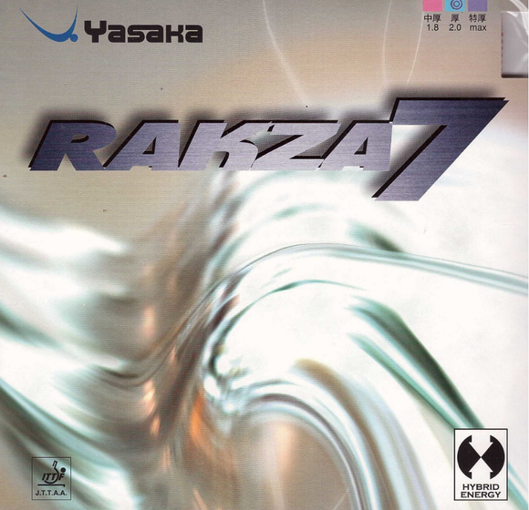 Yasaka Rakza 7, Table Tennis & Ping Pong Rubber - 2.0 Red